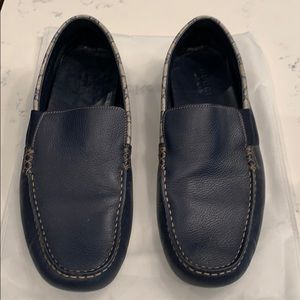 Gucci Navy Blue Loafer with GG Trim